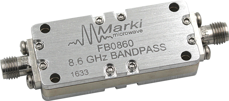 FB-0860 Microwave Connectorized Band Pass Filter image
