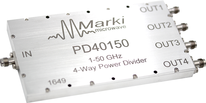 PD4-0150 4-way Wilkinson Microwave/RF Power Divider / Combiner image