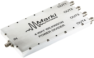 PD4-0120 4-way Wilkinson Microwave/RF Power Divider / Combiner image