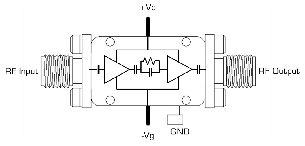 ADM2-0035PA Amplifier Block Diagram