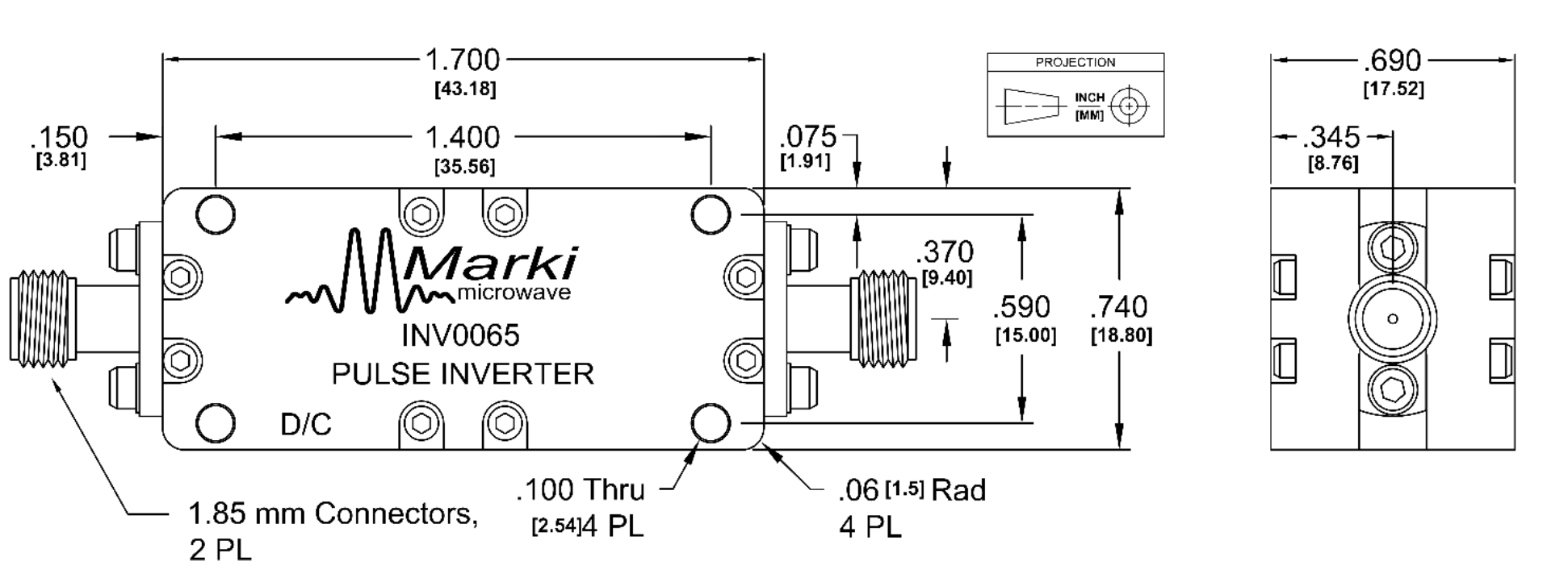 INV-0065 Balun Package Diagram