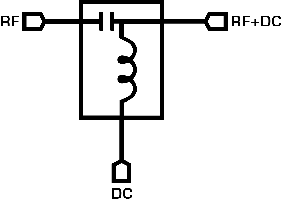 BT1-0040 Bias Tee Block Diagram