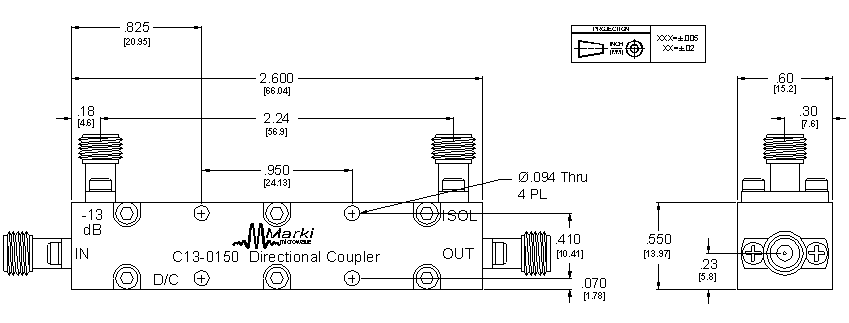 C13-0150 Coupler Package Diagram