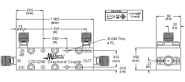 C20-0240 Coupler Package Diagram
