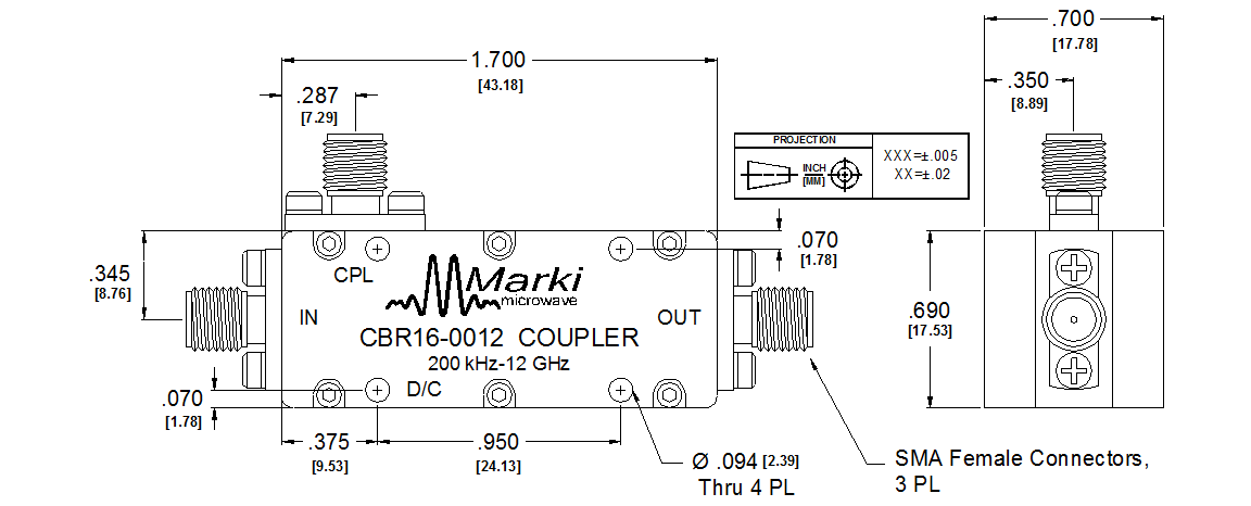 CBR16-0012 Coupler Package Diagram