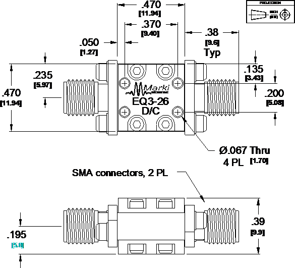 EQ3-26 Equalizer Package Diagram