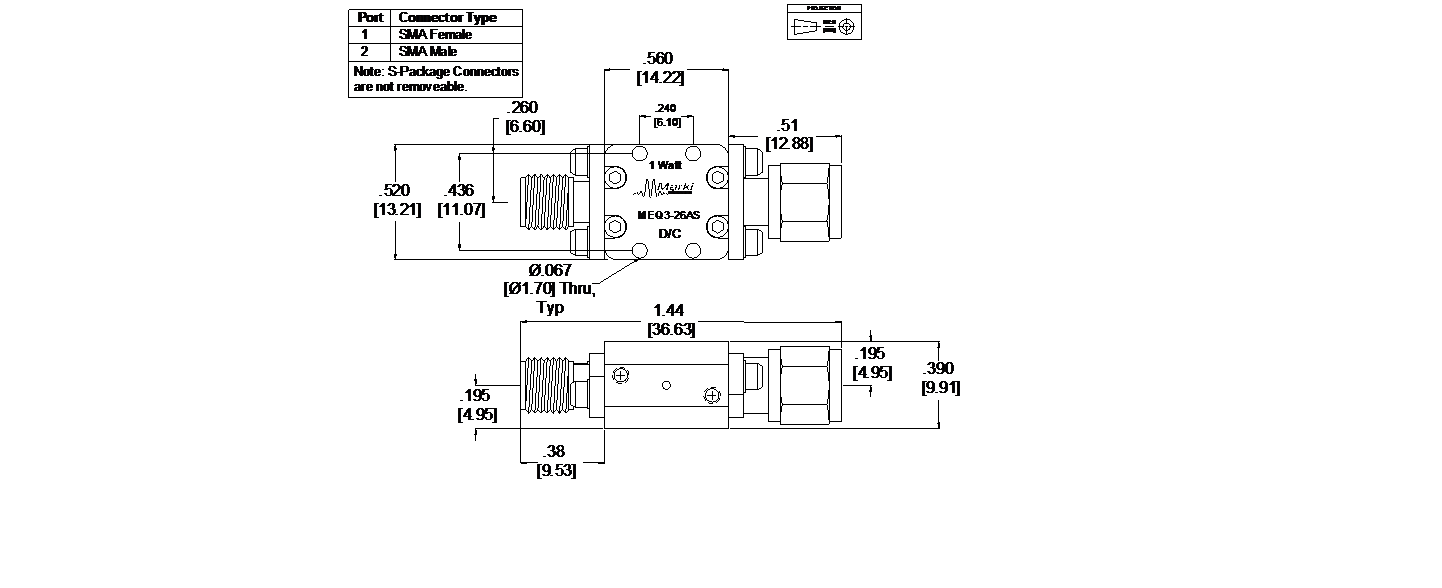 MEQ3-26AS Equalizer Package Diagram