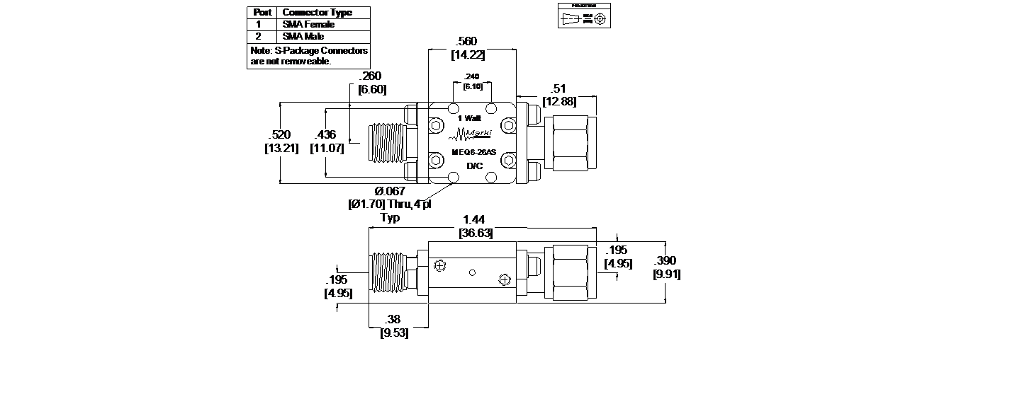 MEQ6-26AS Equalizer Package Diagram