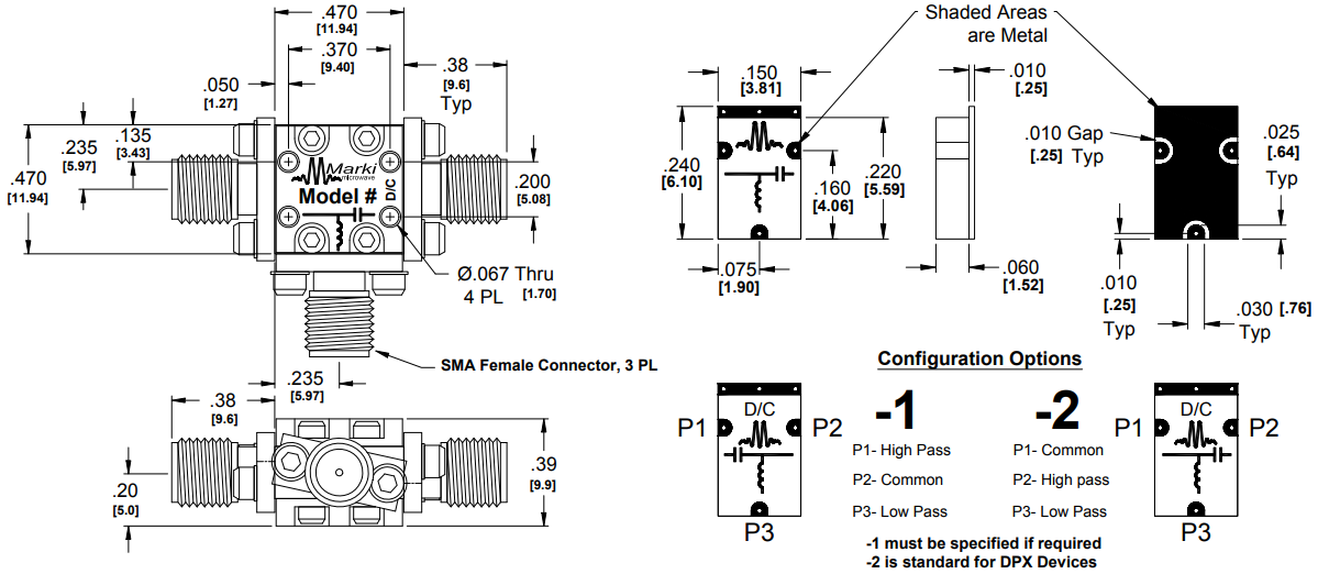 DPX-3 Filter Package Diagram
