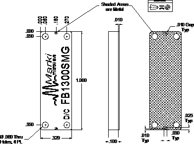 FB-1300SMG Filter Package Diagram