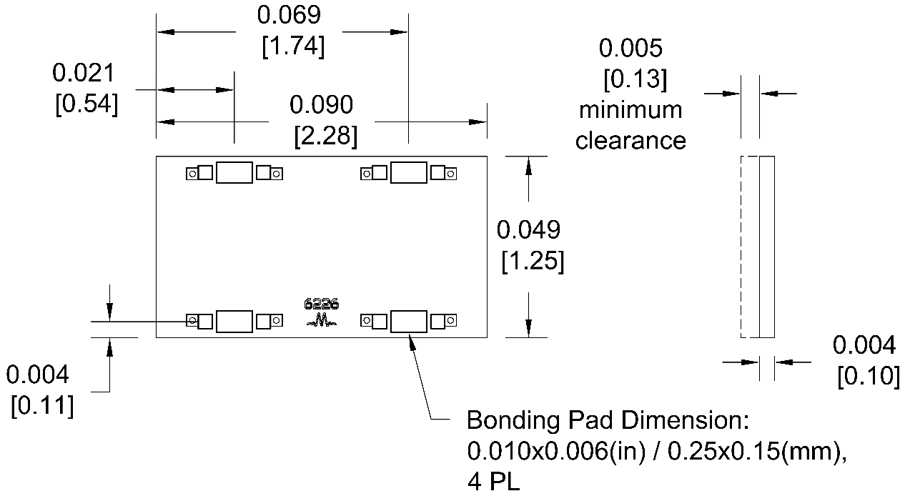 MQH-0920CH Hybrid Package Diagram