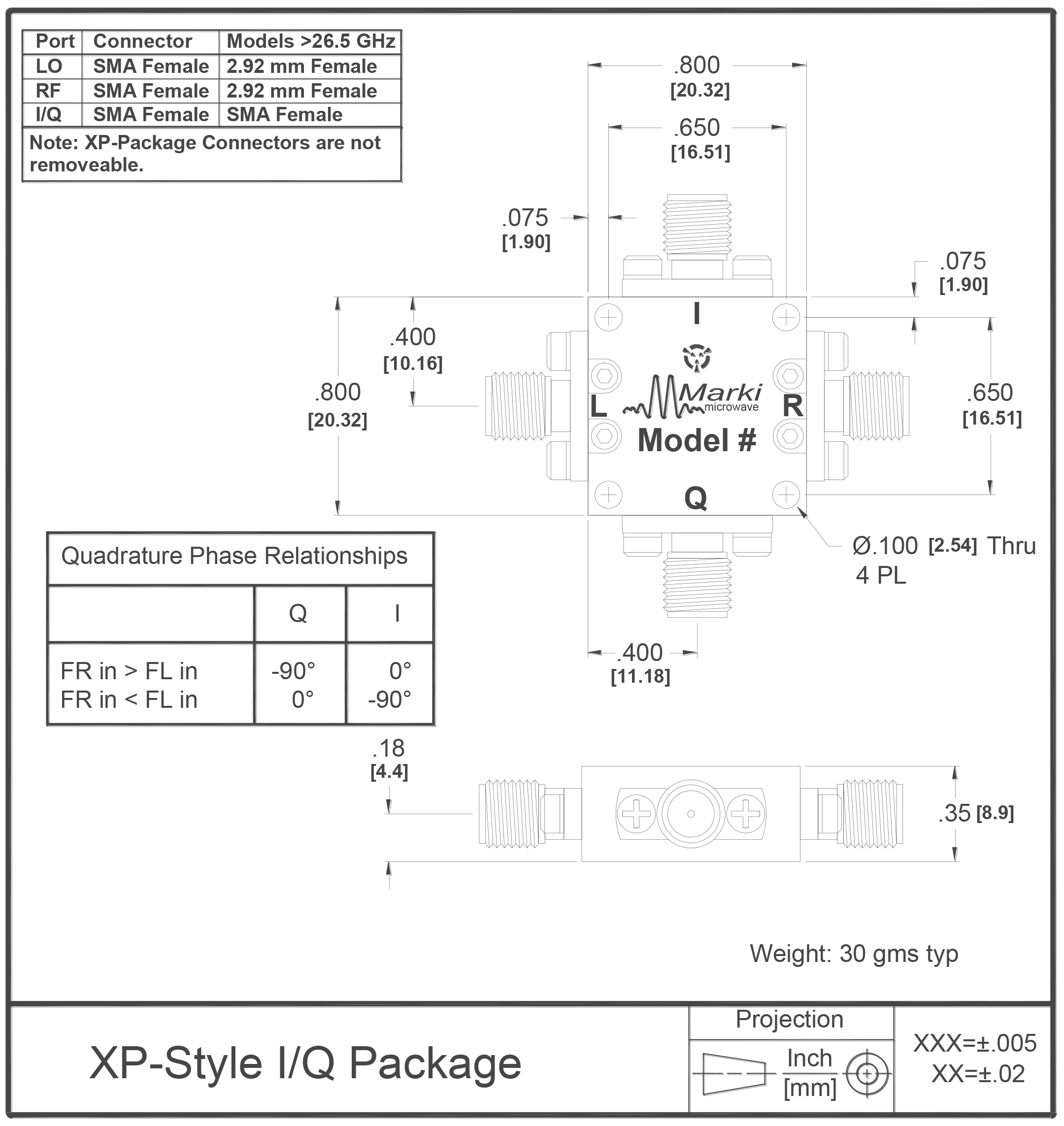 IQ-0618 Mixer Package Diagram