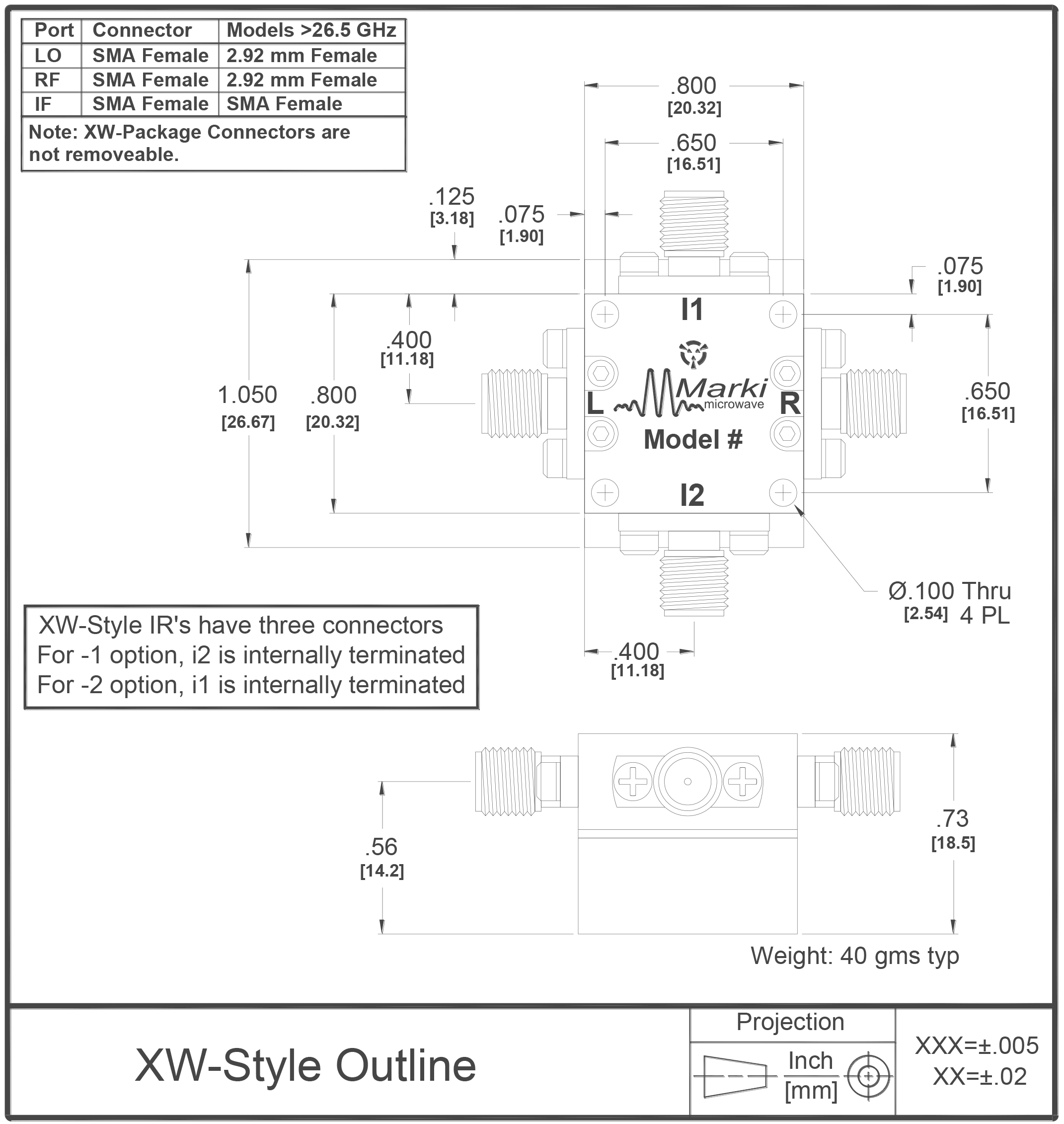 IRW-0618 Mixer Package Diagram