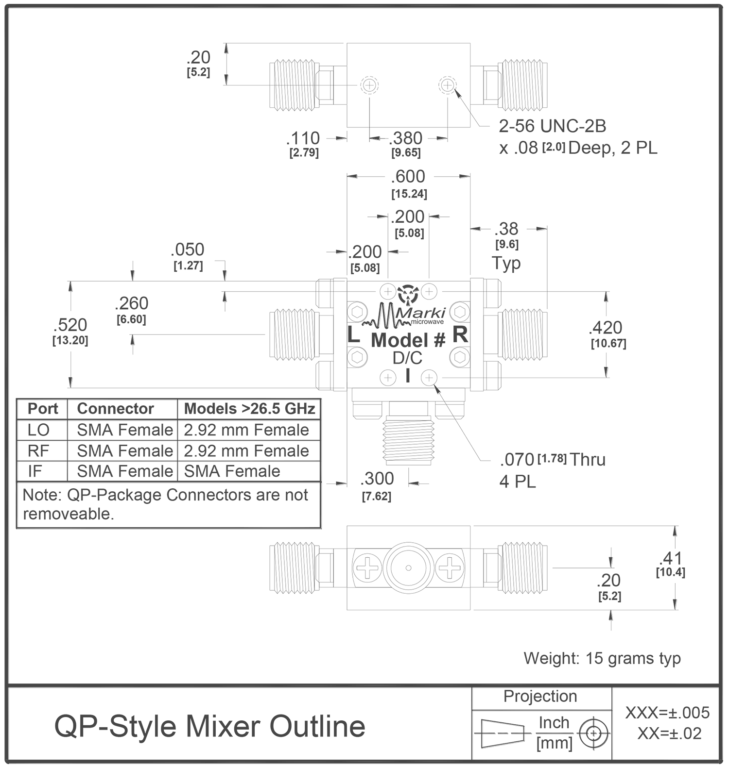 M1-0008 Mixer Package Diagram