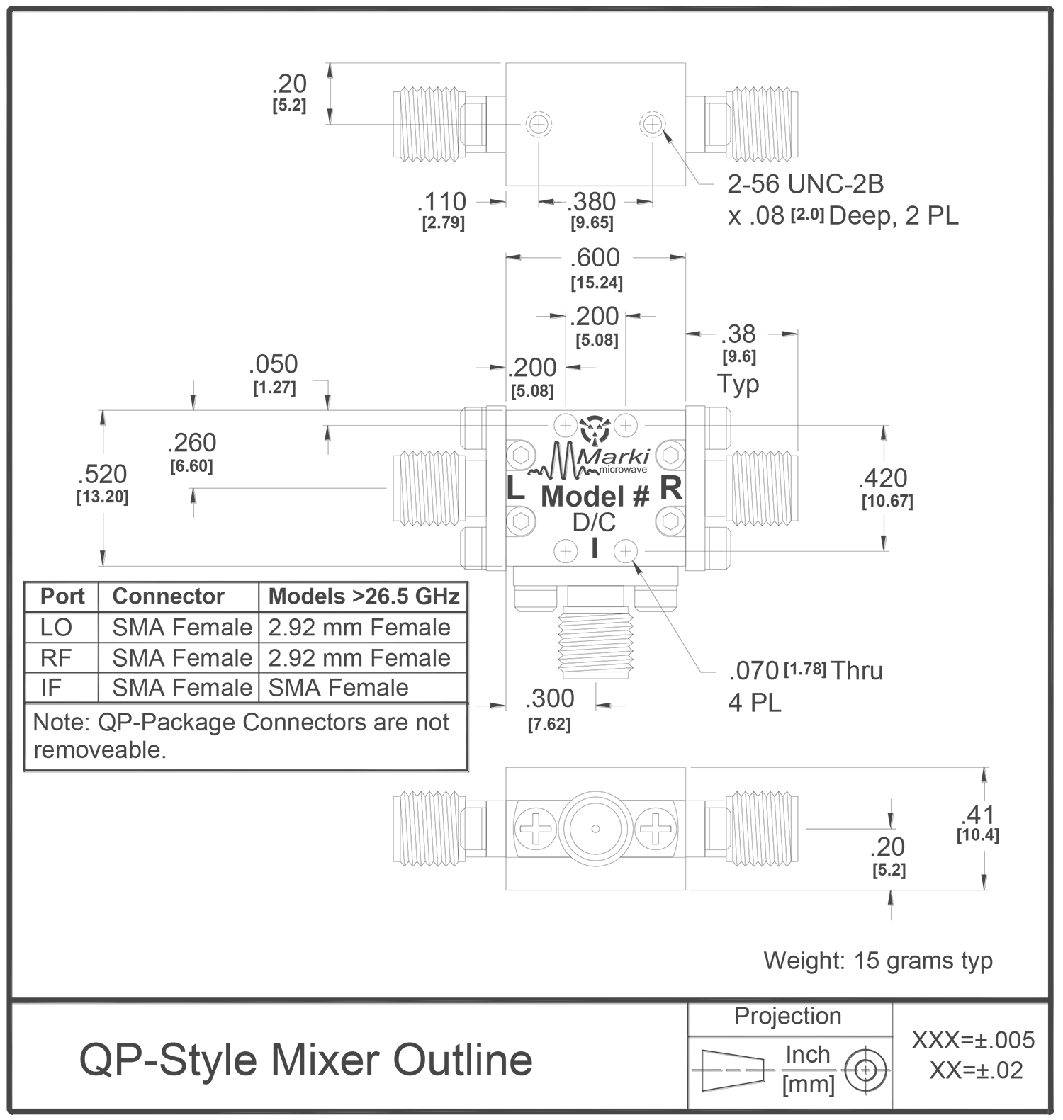 M1-0012 Mixer Package Diagram