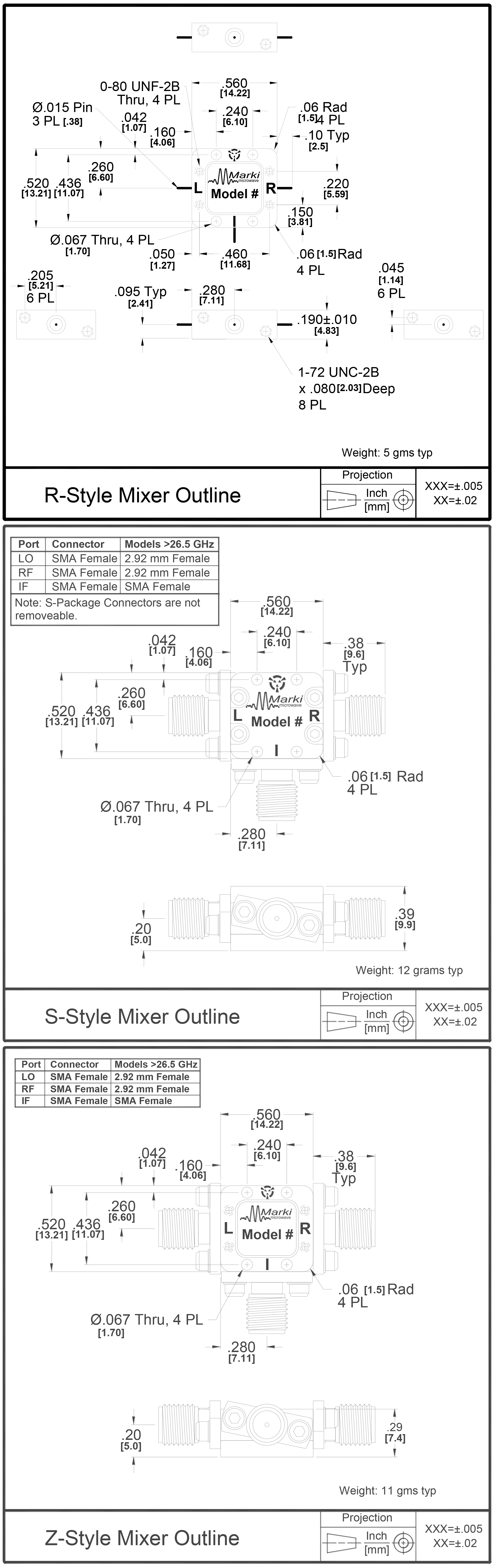 M1r 0726 General Purpose Double Balanced Microwave Mixer Low Distortion Rf To If Mixers Package Diagram