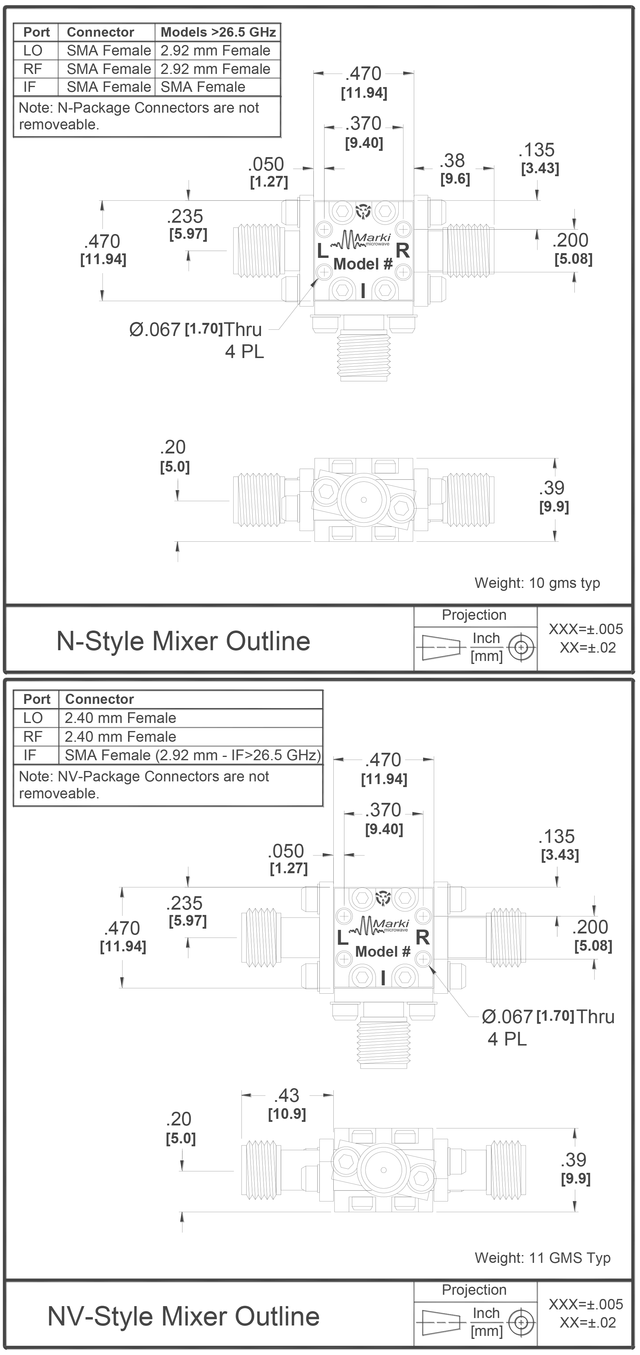 M2-0440 Mixer Package Diagram