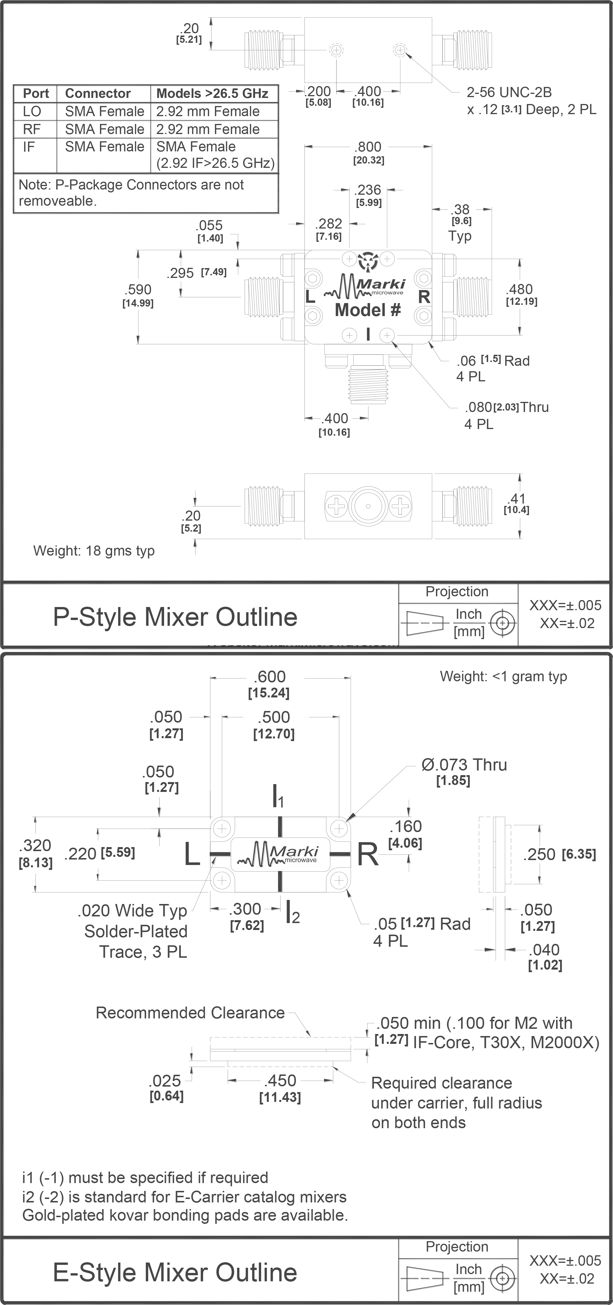 M2B-0218 Mixer Package Diagram