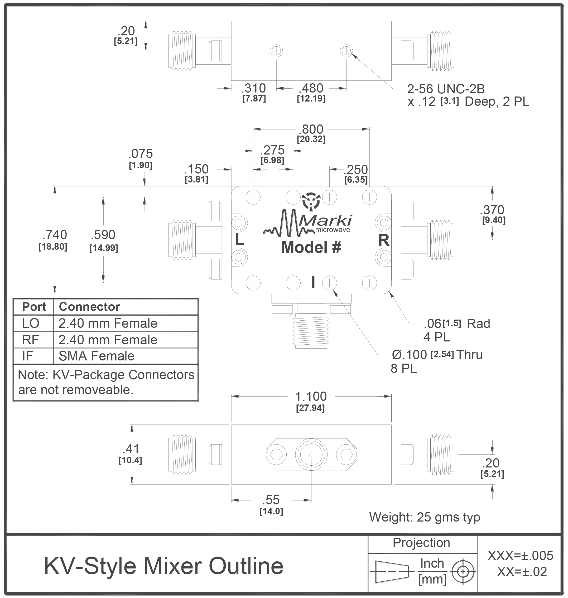 M4-0150 Mixer Package Diagram