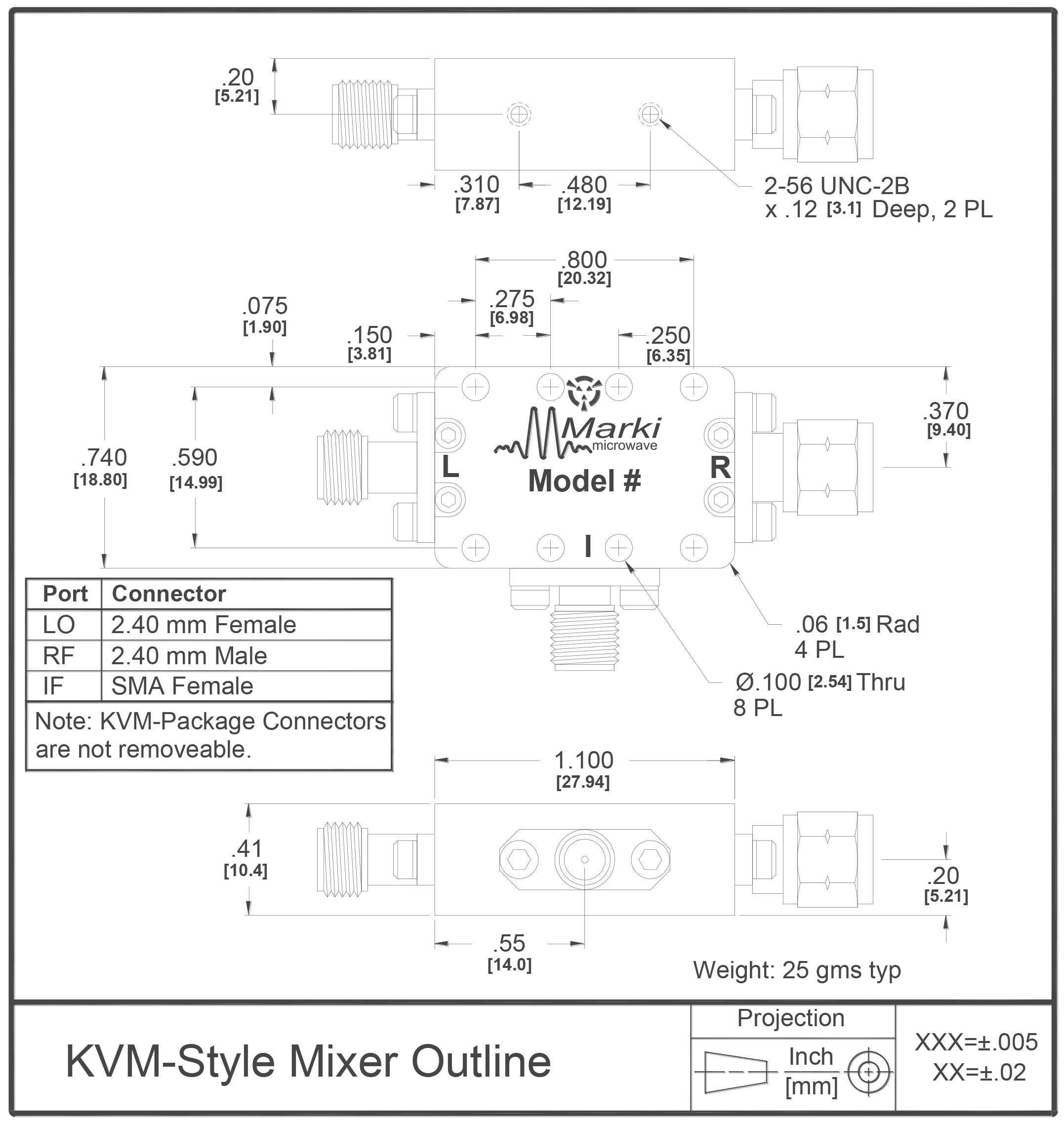 M4-0165 Mixer Package Diagram