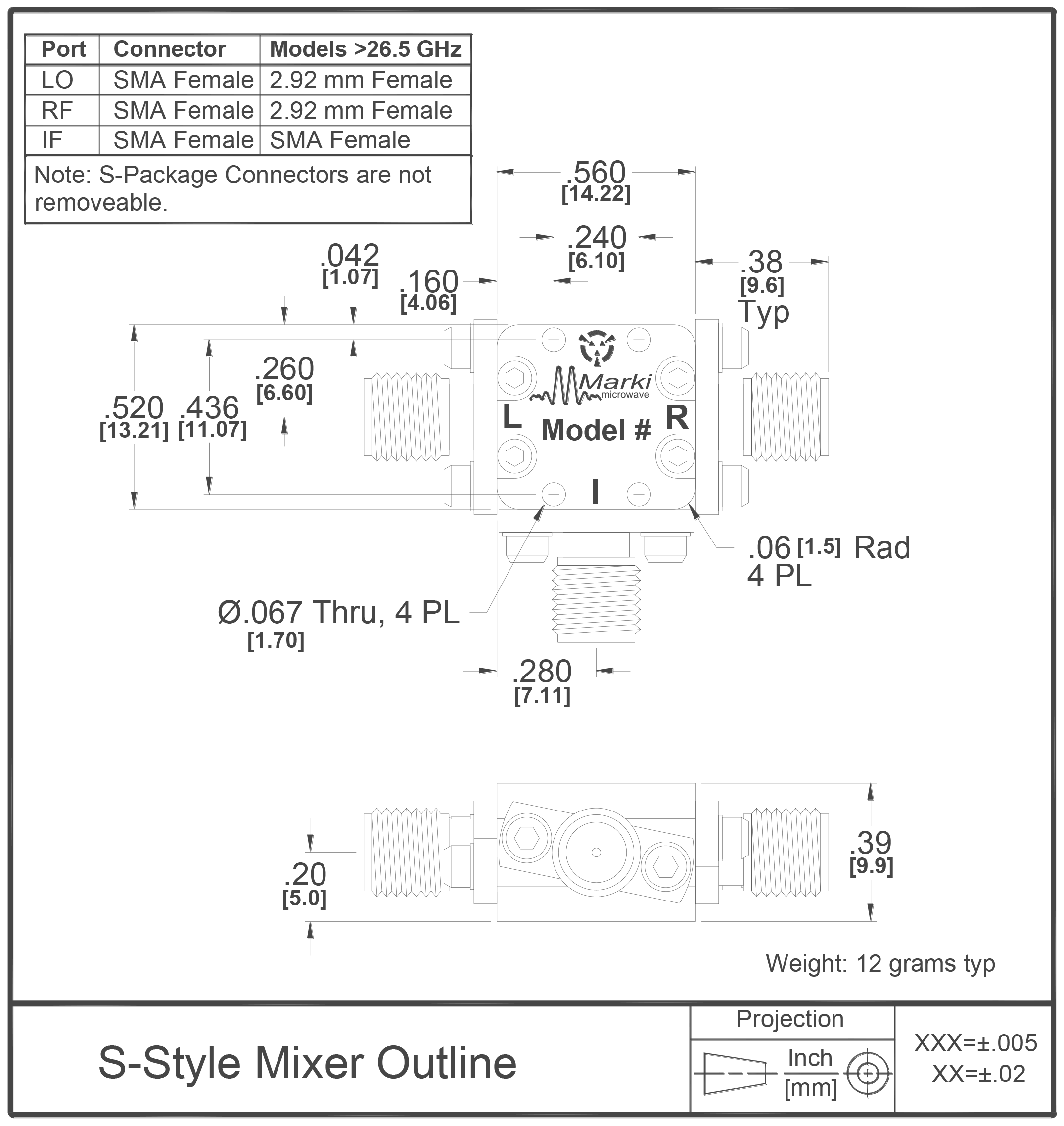 M8-0326 Mixer Package Diagram