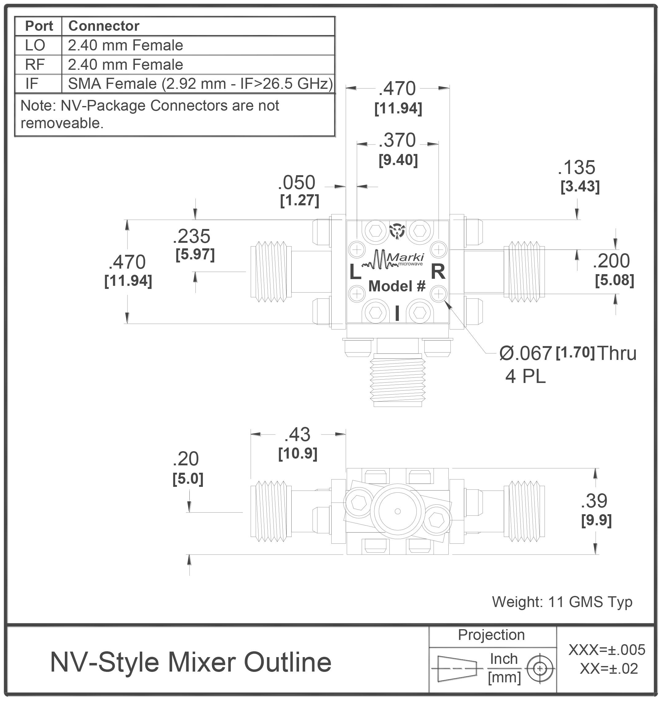 M9-0444 Mixer Package Diagram