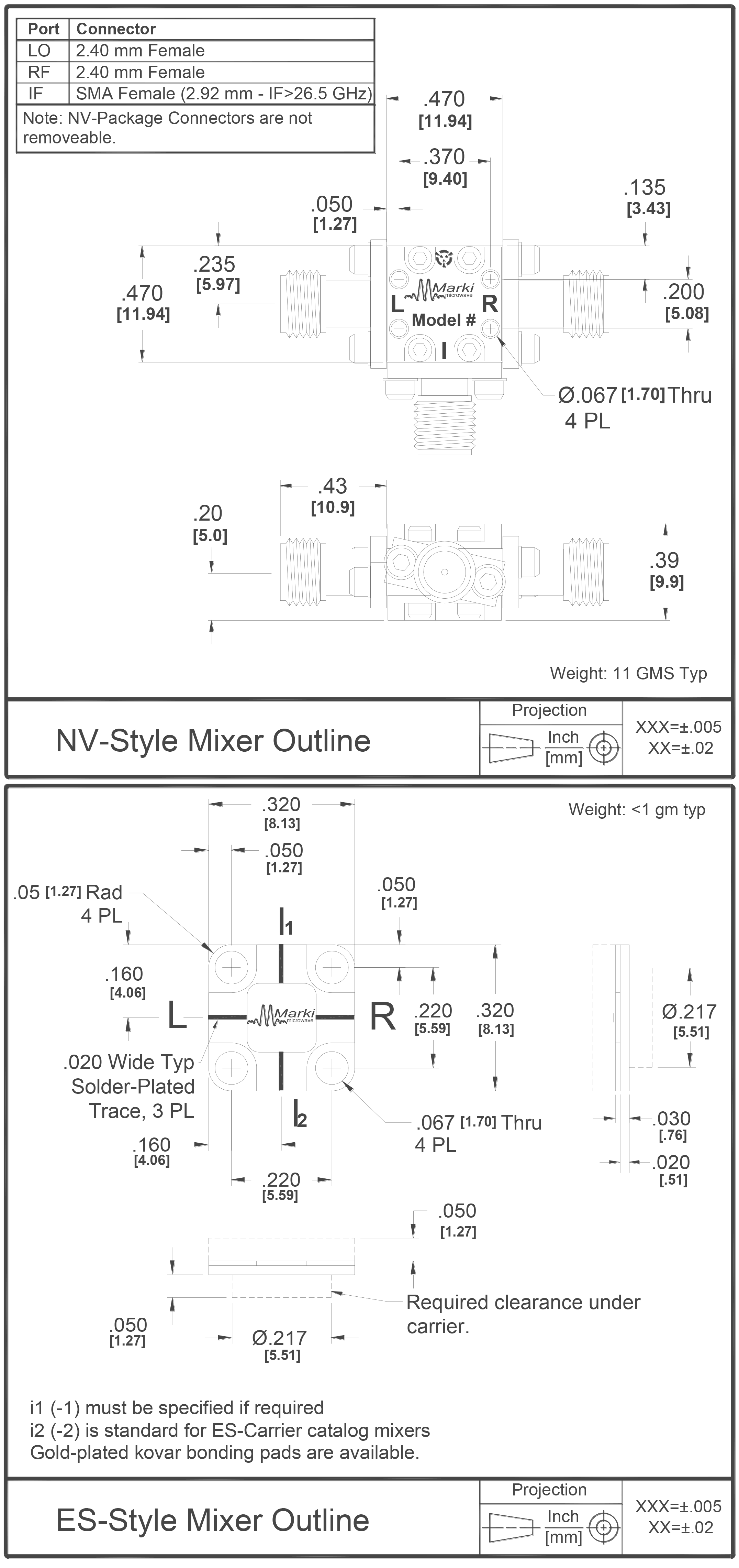 M9-0942 Mixer Package Diagram