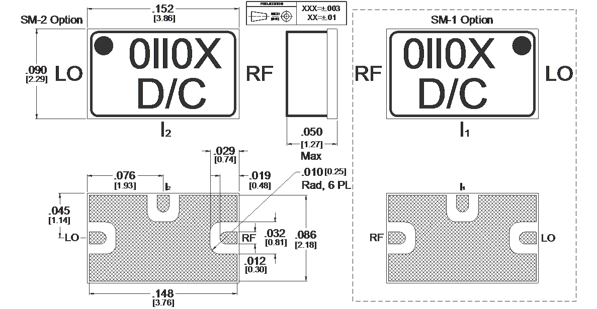 ML1-0110SM Mixer Package Diagram