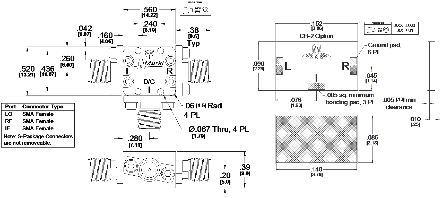 ML1-0732 Mixer Package Diagram