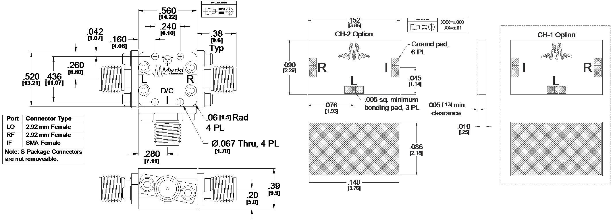 ML1-0936 Mixer Package Diagram