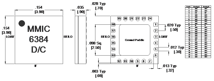 MM1-0212SSM Mixer Package Diagram