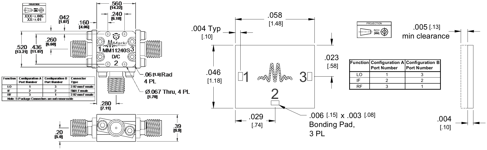 MM1-1240S Mixer Package Diagram