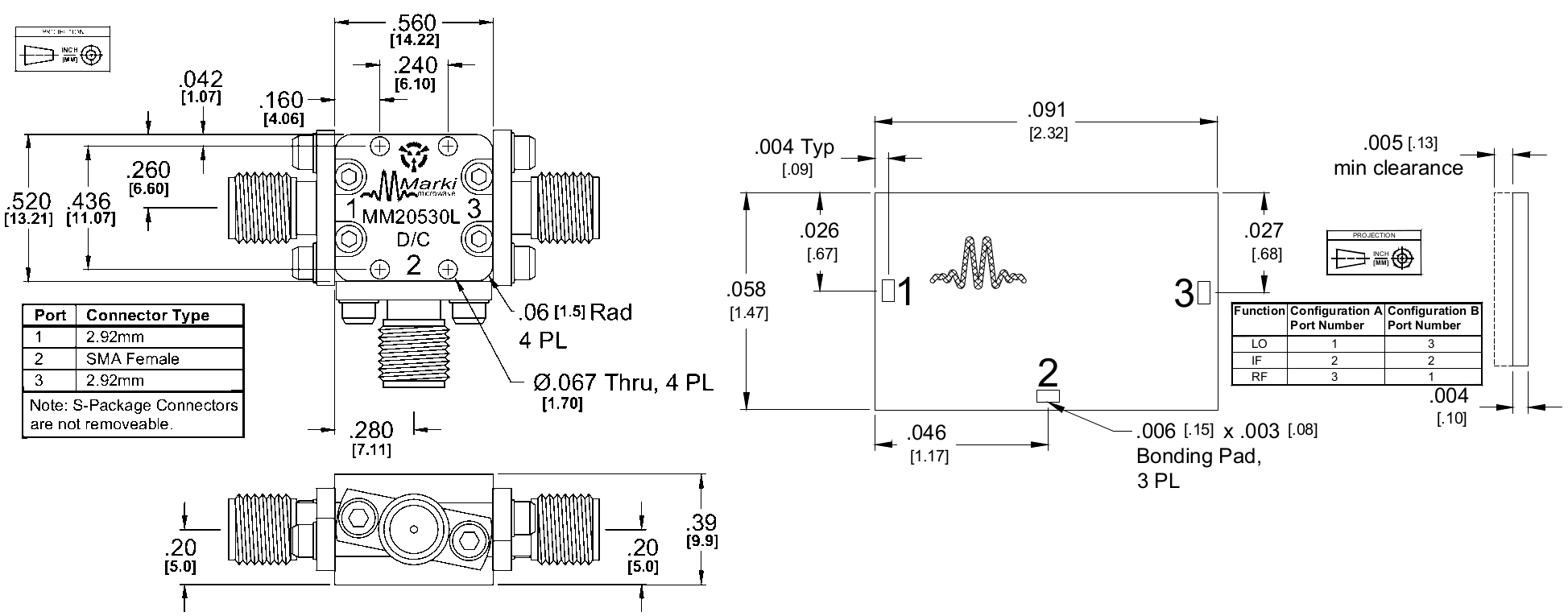 MM2-0530L Mixer Package Diagram