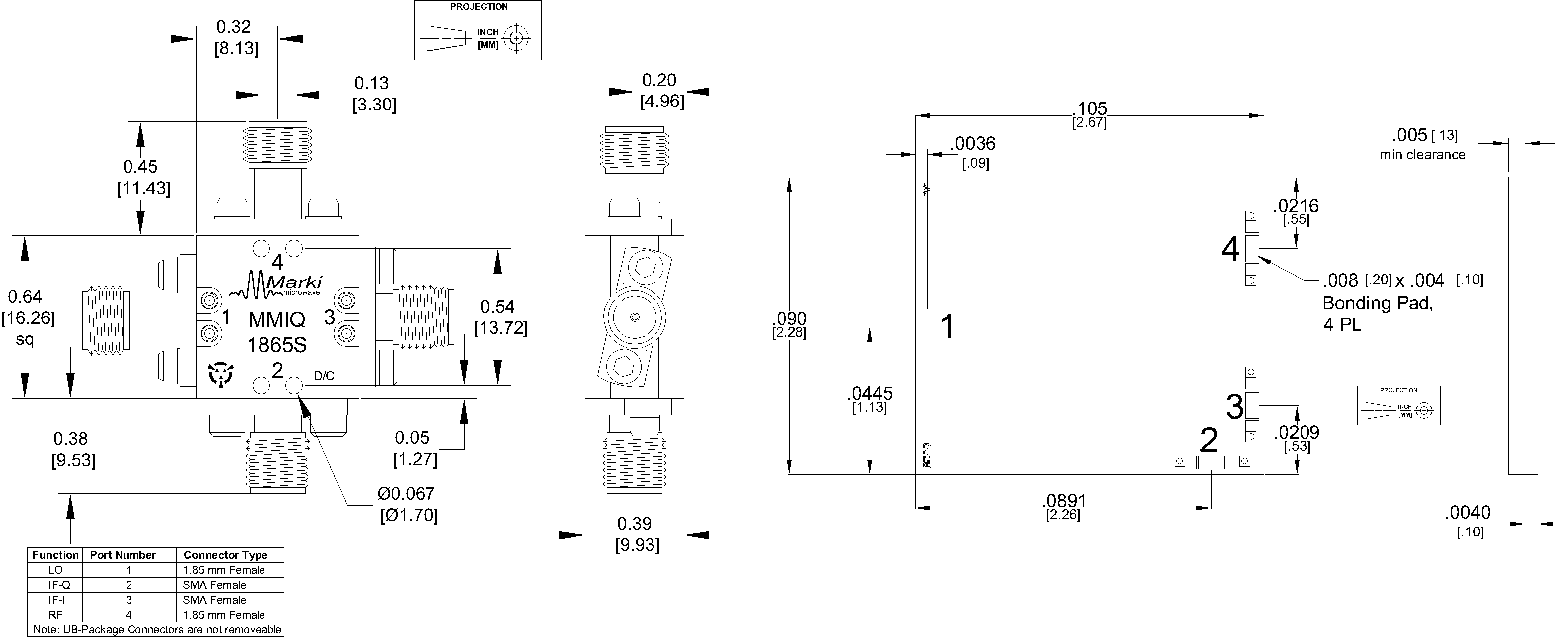 MMIQ-1865S Mixer Package Diagram