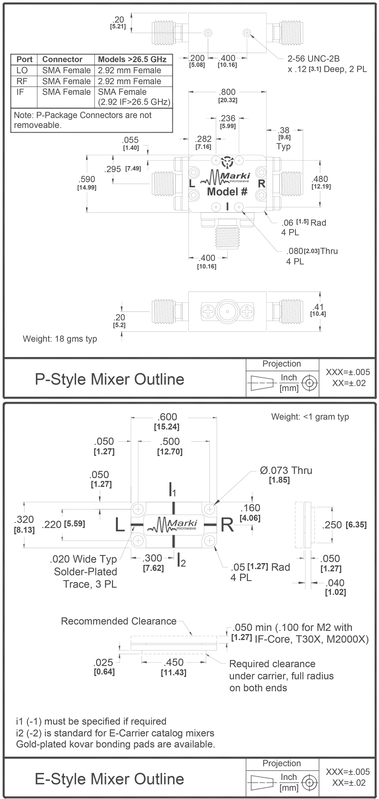T3-0218 Mixer Package Diagram