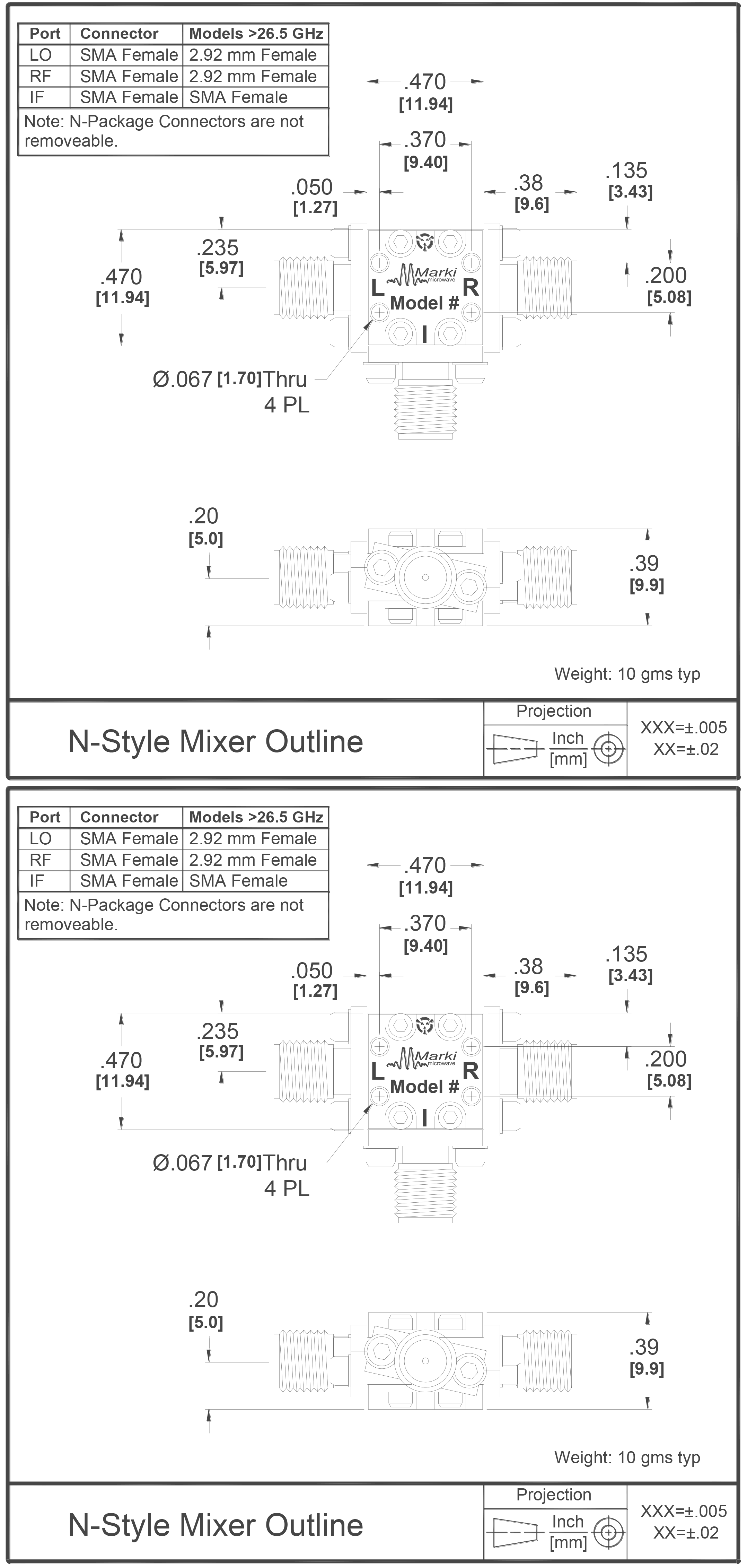 T3-0838 Mixer Package Diagram