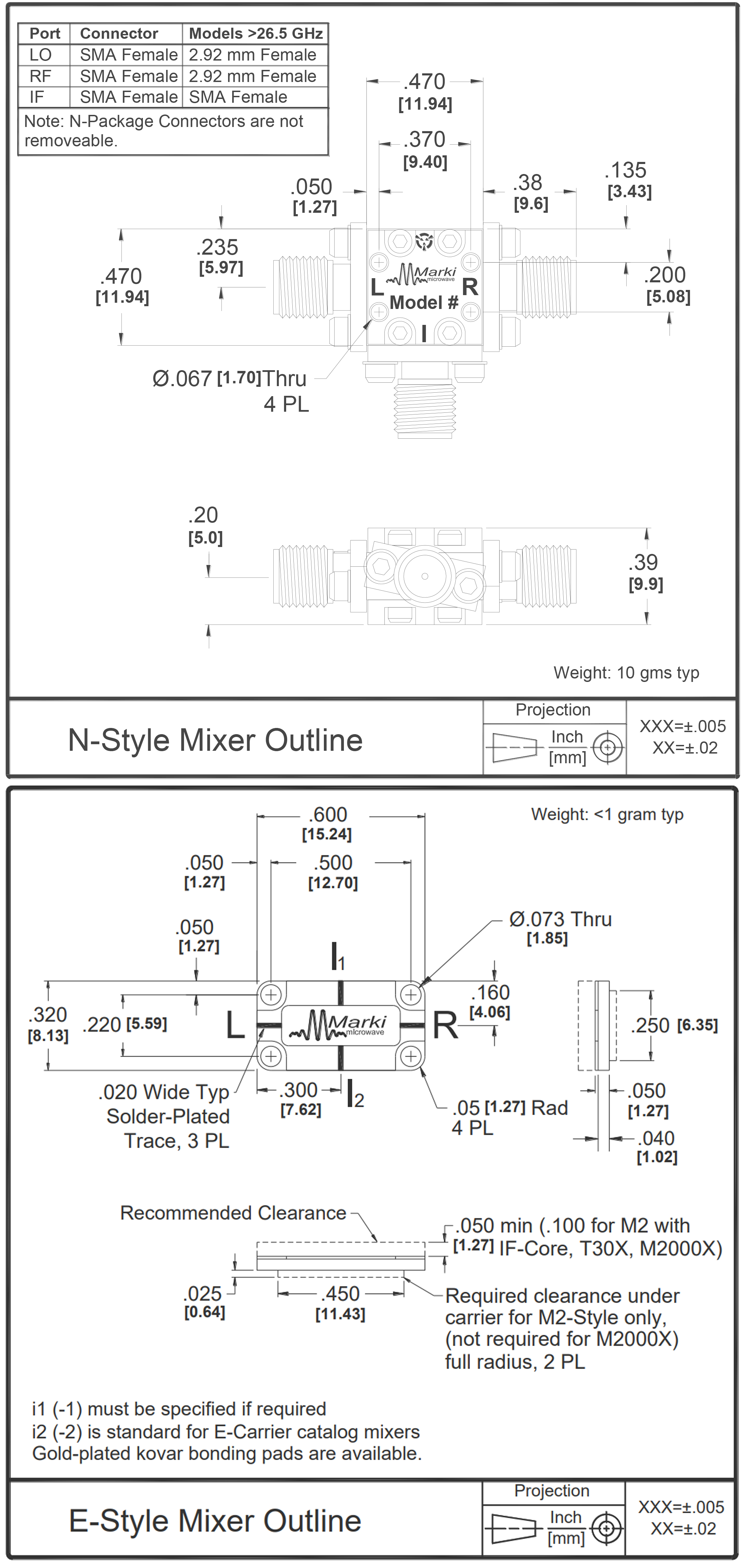 T3-1040 Mixer Package Diagram