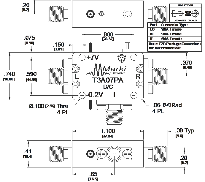T3A-07PA Mixer Package Diagram