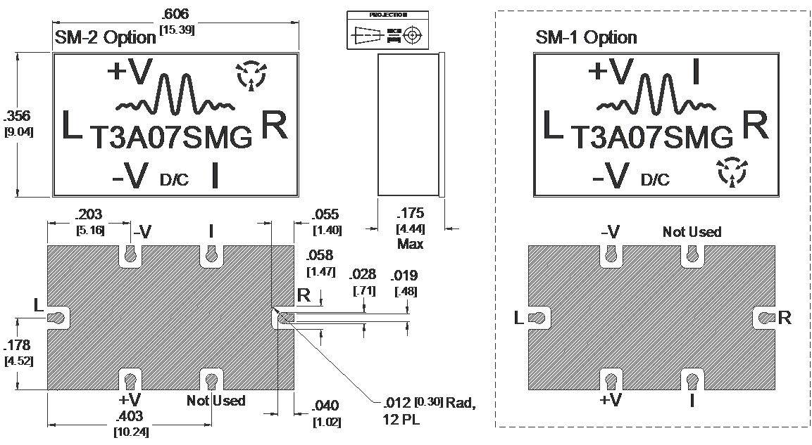 T3A-07SMG Mixer Package Diagram