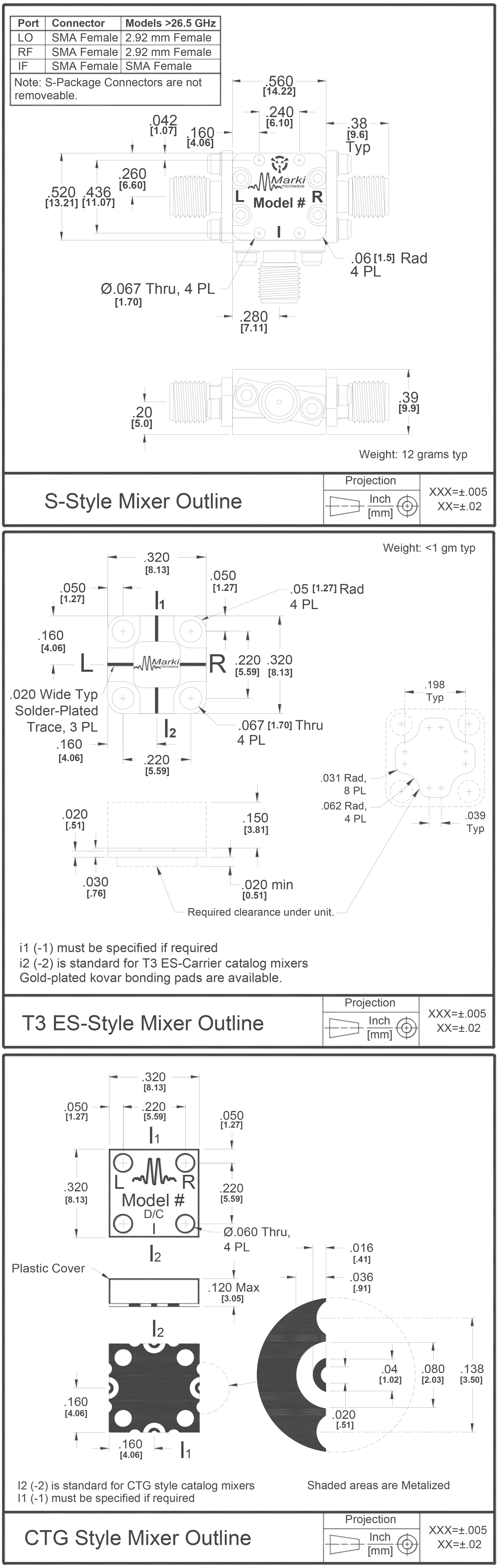 T3H-20 Mixer Package Diagram