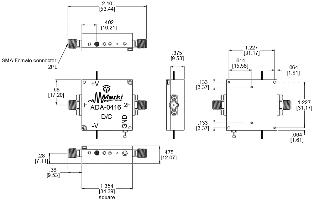 ADA-0416 Multiplier Package Diagram