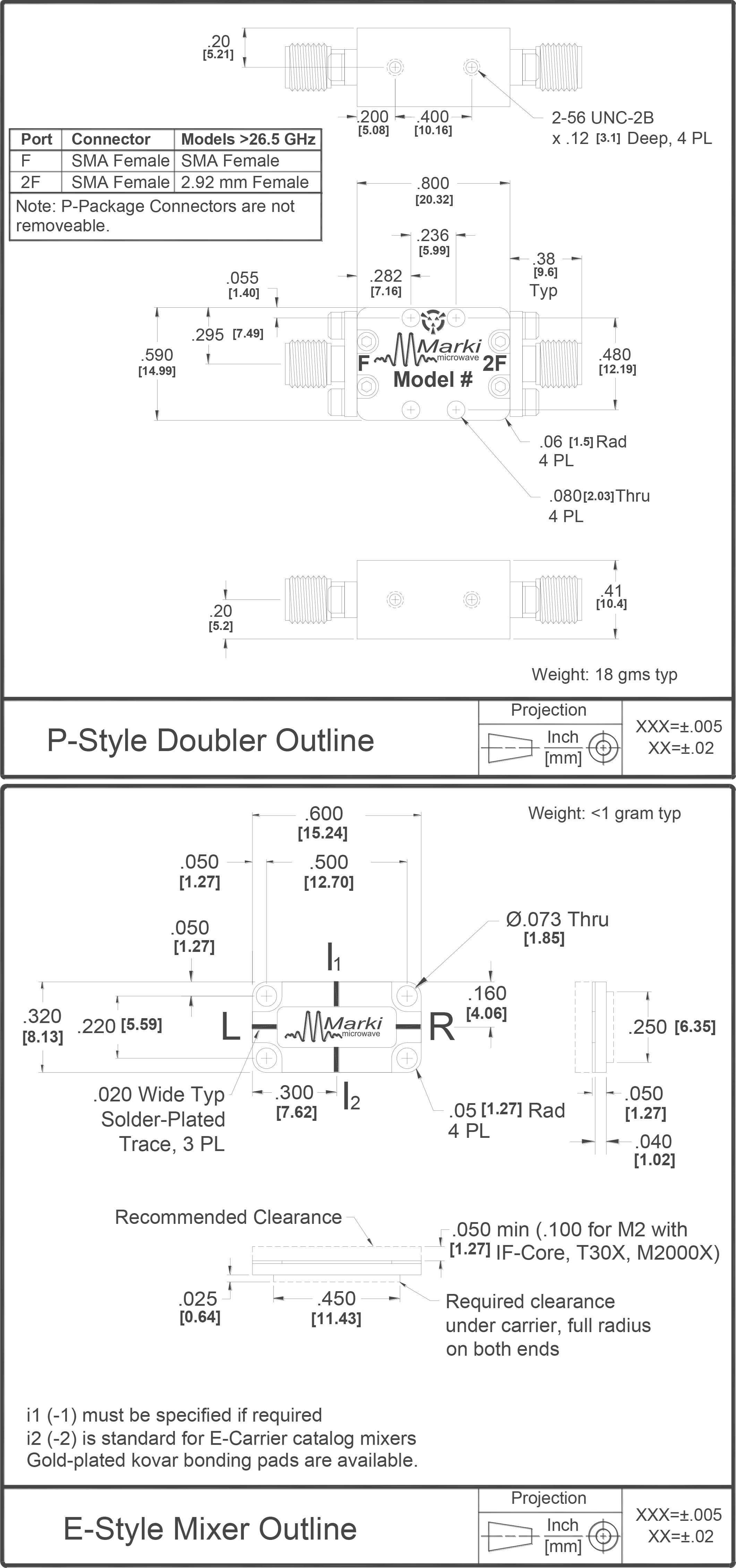 D-1505 Multiplier Package Diagram
