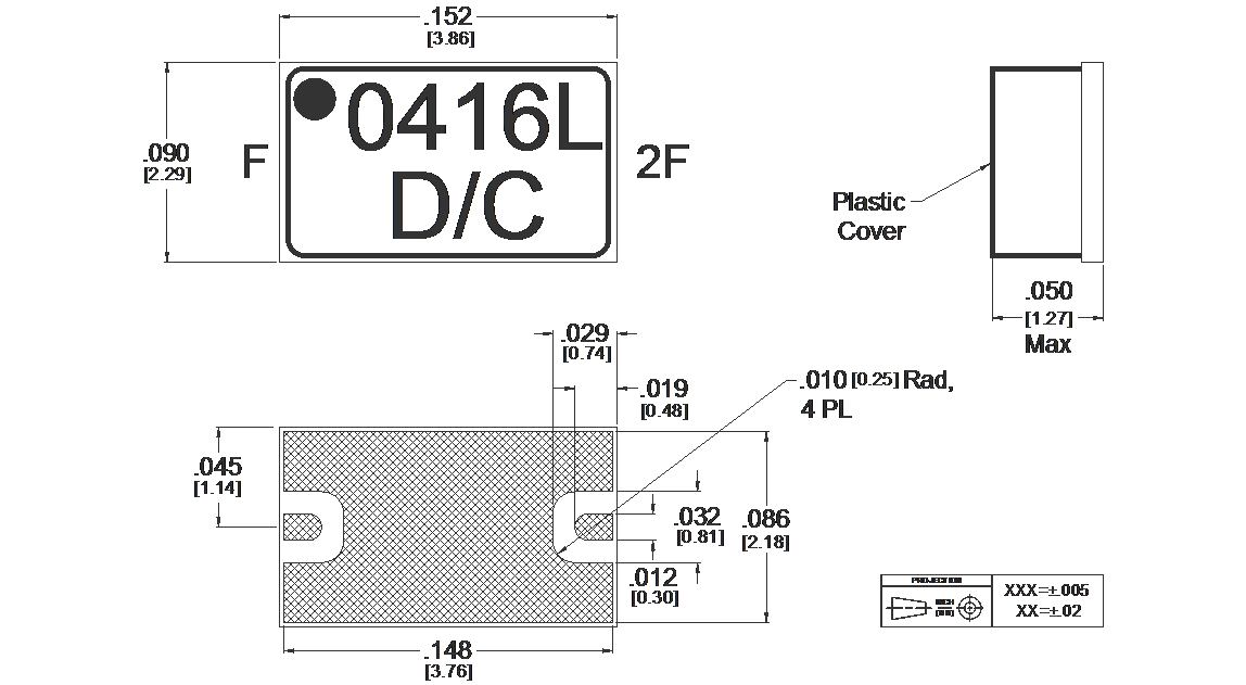 MLD-0416SM Multiplier Package Diagram