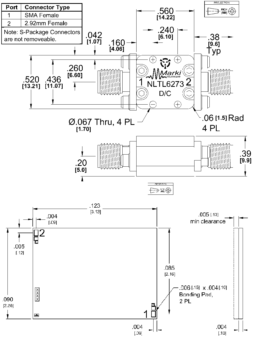 NLTL-6273 Multiplier Package Diagram
