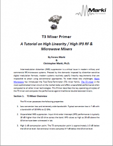 Application Notes – Marki Microwave RF & Microwave